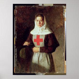 A Nurse, 1886 Poster