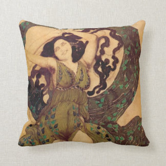A Nymph Cost - A Nymph, for Ballet Russes by Bakst Cushion