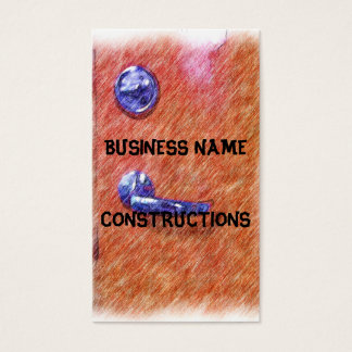 A orange door business card