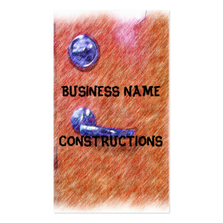 A orange door pack of standard business cards