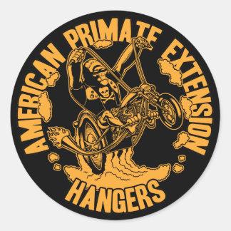 A>P>E> Hangers Classic Round Sticker