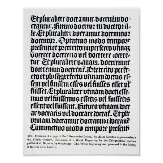 A page of the 'Grammaire Latine' Poster