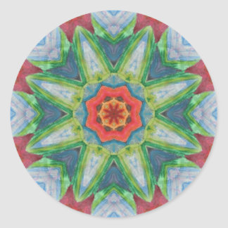 A Painted Mandala Classic Round Sticker