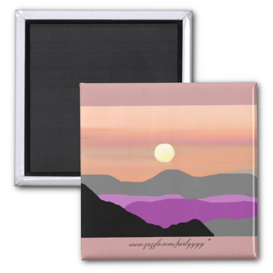 A Painted Sunset Magnet
