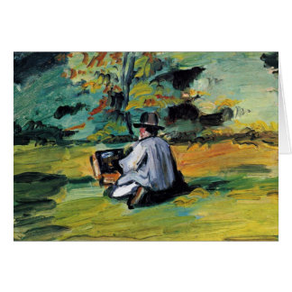 A Painter At Work By Paul Cézanne (Best Quality) Card