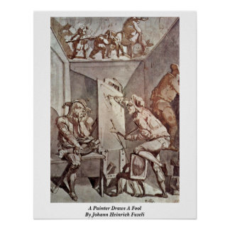 A Painter Draws A Fool By Johann Heinrich Fuseli Posters
