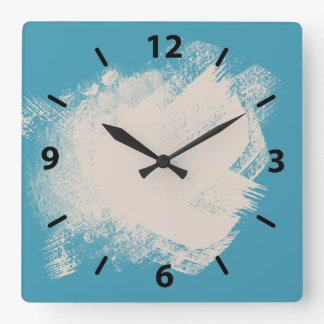 A Painters turquoise and beige Wallclock