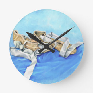 A Pair of Ballet Shoes Round Clock