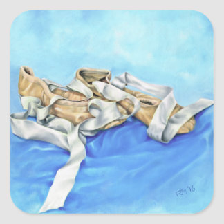 A Pair of Ballet Shoes Square Sticker