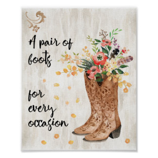 A Pair of Boots for Every Occasion Poster