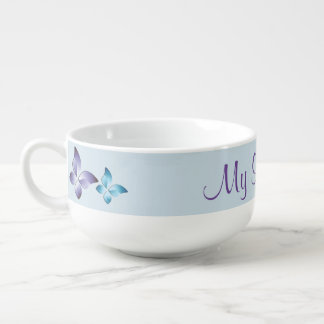 A Pair of Butterflies Soup Mug