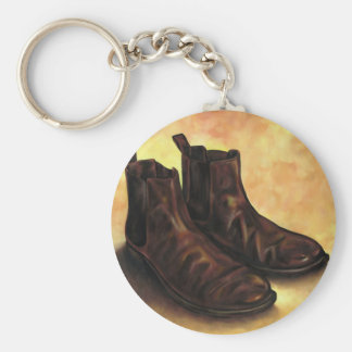 A Pair of Chelsea Boots Basic Round Button Key Ring
