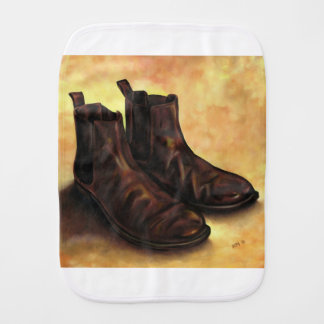 A Pair of Chelsea Boots Burp Cloth
