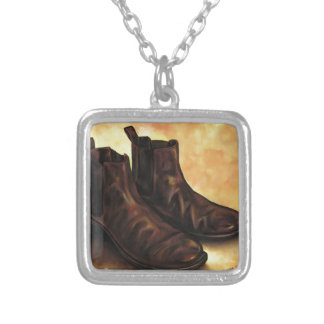 A Pair of Chelsea Boots Silver Plated Necklace
