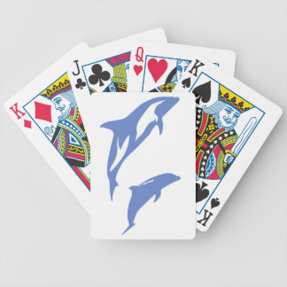 A Pair of Dolphins Bicycle Playing Cards