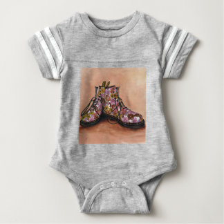 A Pair of Favourite Floral Boots Baby Bodysuit