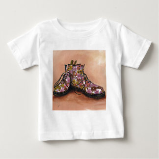 A Pair of Favourite Floral Boots Baby T-Shirt
