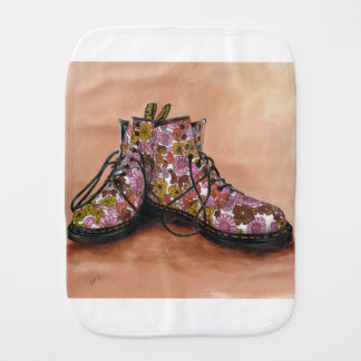A Pair of Favourite Floral Boots Burp Cloth