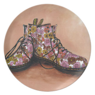 A Pair of Favourite Floral Boots Plate