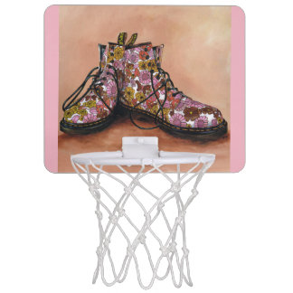 A Pair of Floral Dr Martins Boots Mini Basketball Hoop
