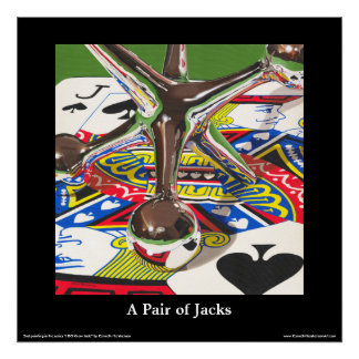 "A Pair of Jacks Fine Art Poster, 24"" x 24""A Pair o Poster"