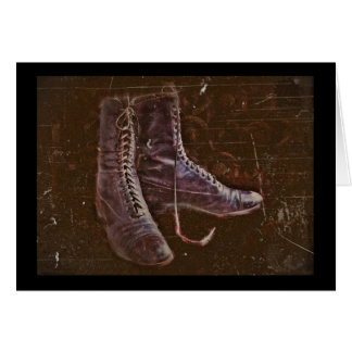 A Pair of Nurse Boots WWI Greeting Card