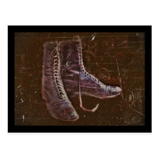 A Pair of Nurse Boots WWI Postcard