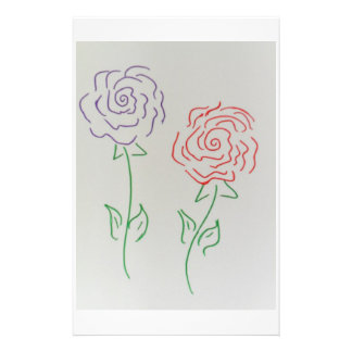 A PAIR OF ROSES PERSONALIZED STATIONERY