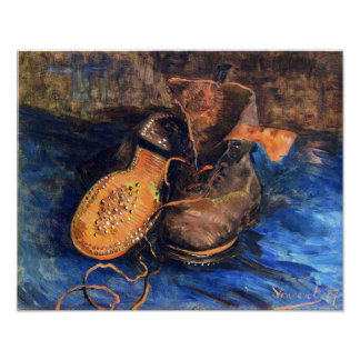 A Pair of Shoes by Vincent van Gogh 1887 Poster