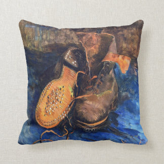 A Pair of Shoes by Vincent van Gogh 1887 Throw Pillow