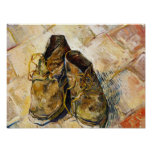 A Pair of Shoes Vincent van Gogh fine art painting Poster