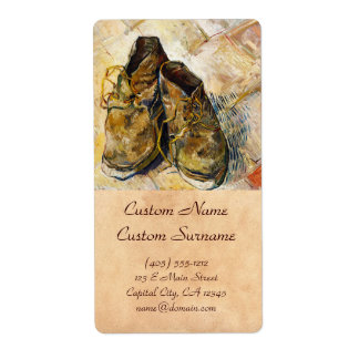 A Pair of Shoes Vincent van Gogh fine art painting Shipping Label