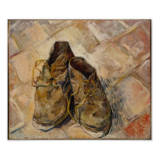 A Pair of Shoes, Vincent van Gogh Poster