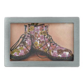 A Pair of Treasured Flowery Boots Belt Buckles