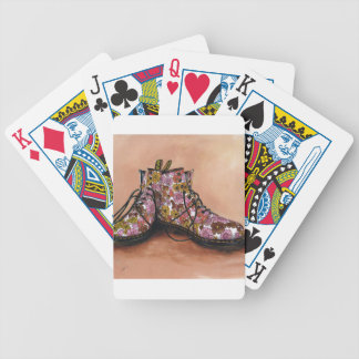 A Pair of Treasured Flowery Boots Bicycle Playing Cards