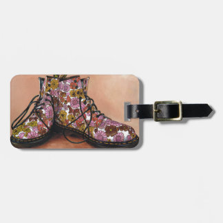 A Pair of Treasured Flowery Boots Luggage Tag