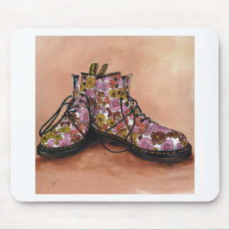 A Pair of Treasured Flowery Boots Mouse Pad