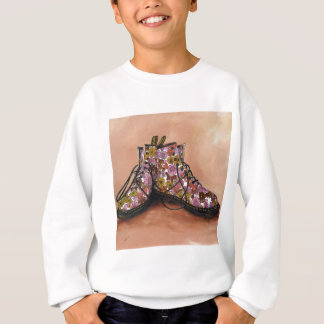 A Pair of Treasured Flowery Boots Sweatshirt