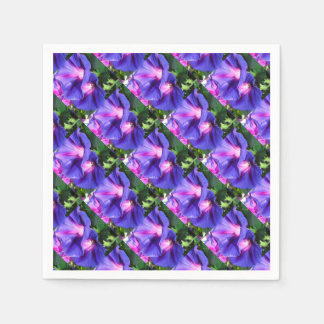 A Pair of Vibrant Morning Glories In Full Bloom Paper Napkin