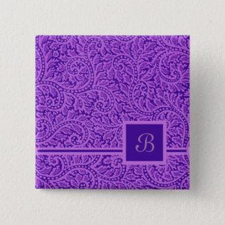 A Paisley Swirl 5 15 Cm Square Badge