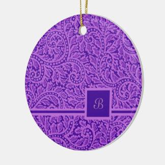 A Paisley Swirl 5 Ceramic Ornament
