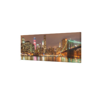 A panorama of the New York City skyline Gallery Wrapped Canvas