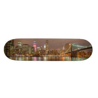 A panorama of the New York City skyline Skateboard Decks