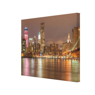 A panorama of the New York City skyline Stretched Canvas Prints