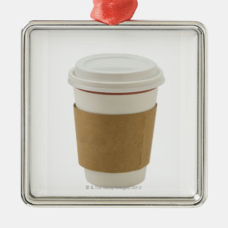 A paper coffee Cup Metal Ornament
