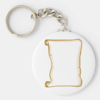 A Parchment Scroll Key Ring