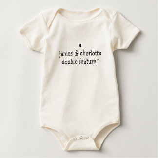 A (Parents Names Here) Double Feature For Twins Baby Bodysuit