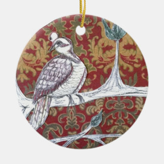 A Partridge in a Pear Tree 3.0 Round Ceramic Decoration