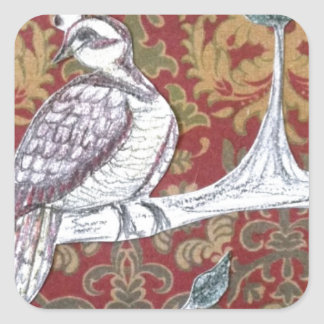 A Partridge in a Pear Tree 3.0 Square Sticker