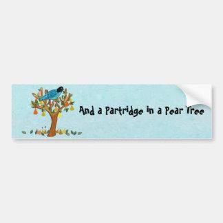 A Partridge in a Pear Tree Bumper Sticker
